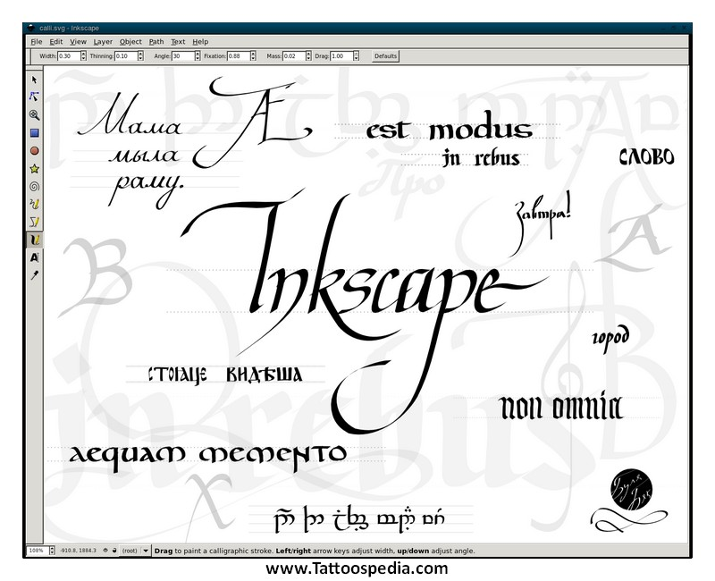 Tattoo Lettering Fonts Generator The