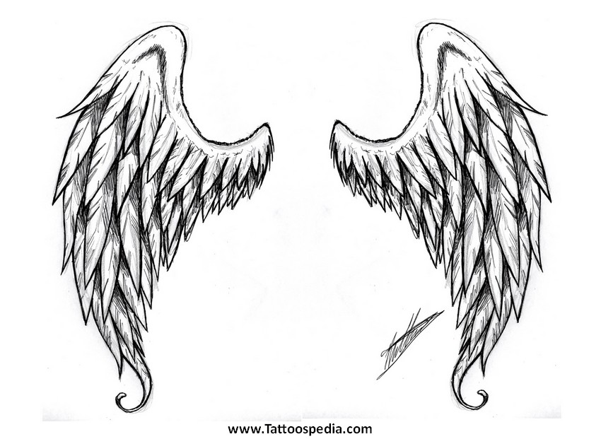 Angel Wing Design Tattoos Tattoo Designs For Women Angel