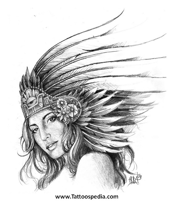 Aztec tattoos art 3 for Aztec lion tattoo meaning