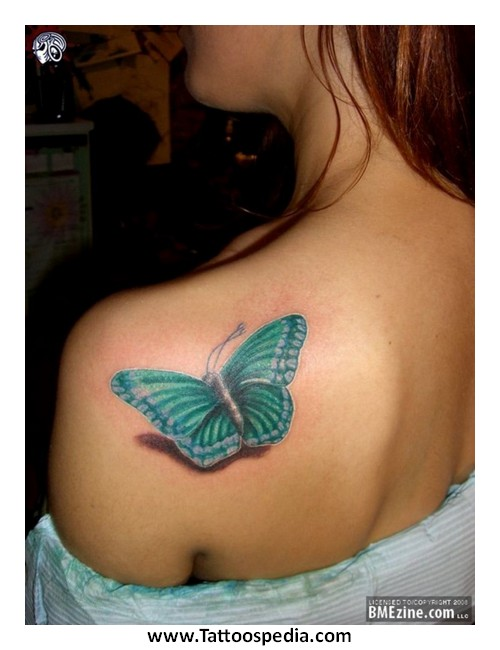 3-dimensional butterfly tattoos 4