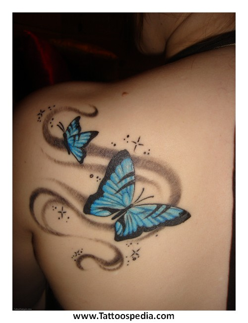Butterfly memorial tattoo designs 1 for Butterfly memorial tattoos