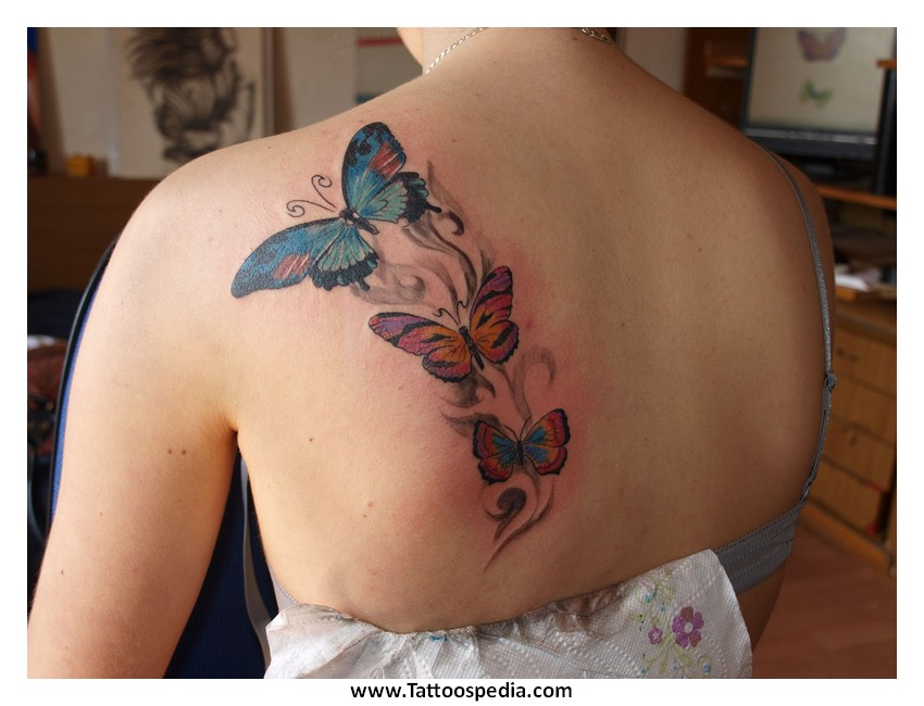 Butterfly Tattoo Designs On Back Shoulder 1