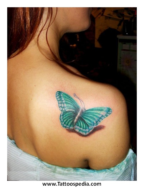 Butterfly Tattoo Designs Shoulder Blade 4