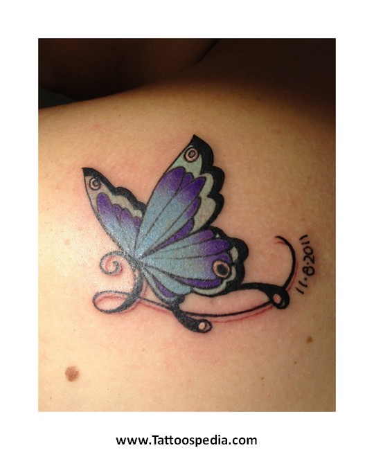 Lupus Purple Butterfly Tattoo