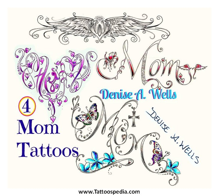 butterfly with name tattoo designs 1. Black Bedroom Furniture Sets. Home Design Ideas
