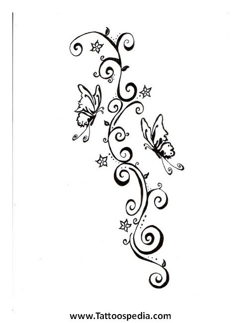 fe005f22adfaa Heart And Butterfly Tattoos Designs 3