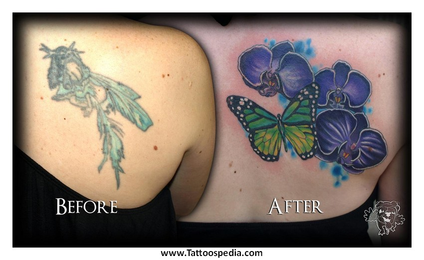 497760013c3b9 Orchid With Butterfly Tattoo Designs 6