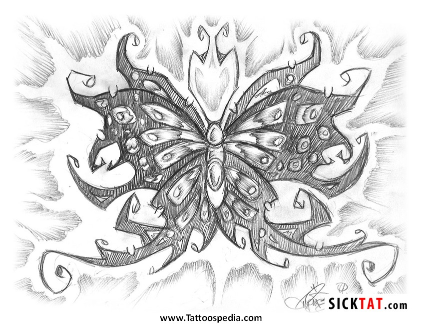 printable butterfly tattoos designs 6. Black Bedroom Furniture Sets. Home Design Ideas
