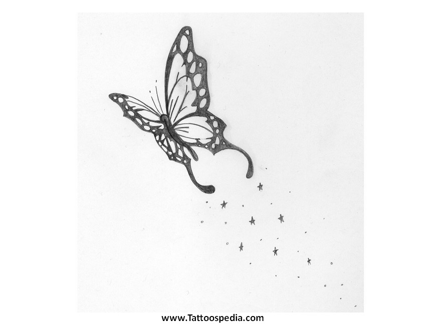 graphic regarding Printable Tattoo Design referred to as Printable Butterfly Tattoos Ideas 8