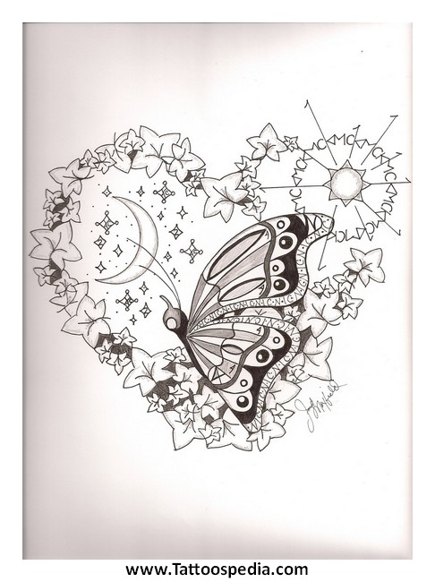 Tattoo Designs Butterfly And Stars 5