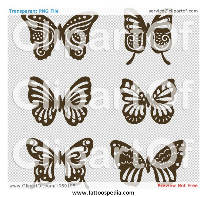 Vintage Butterfly Tattoos 65