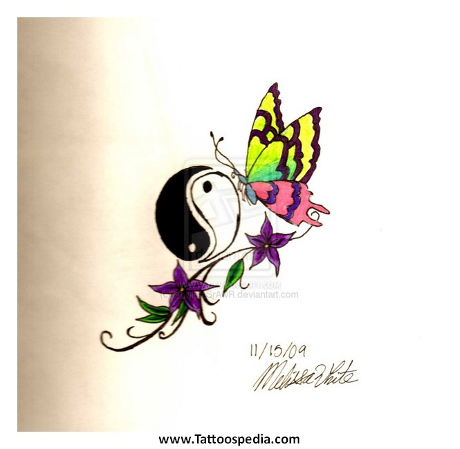 f1128cb61 Yin Yang Butterfly Tattoo Designs 4