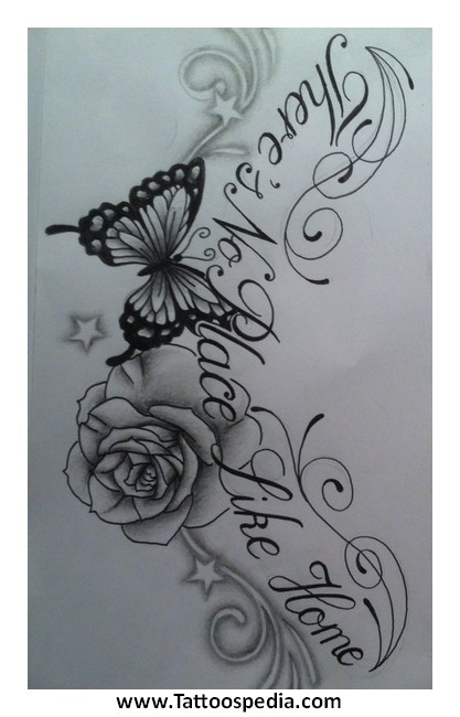 butterfly rose tattoos 2 |