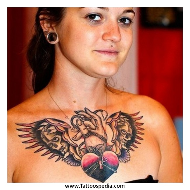 Quote Tattoos On Chest For Girls Chest Tattoos -...