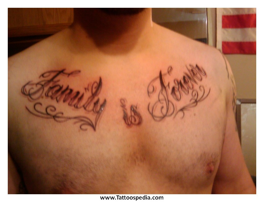 Tattoos For Men Quote Chest 3 |