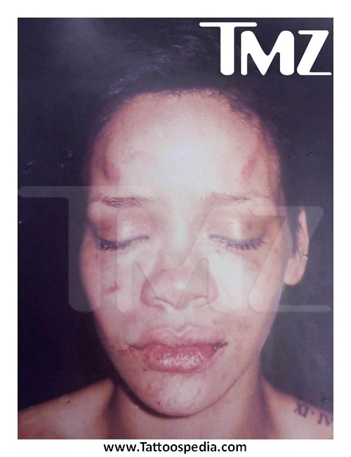 Chris Brown Tattoo Rihanna Beaten Face 3 |