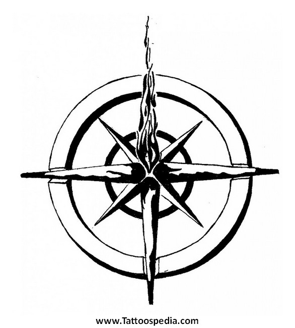 Nautical Compass Tattoo Designs 4