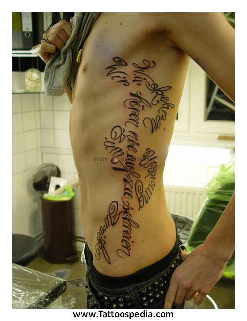 Cool Rib Tattoos For Guys 1 |