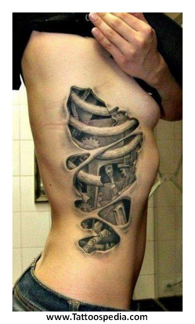 Cool Rib Tattoos For Guys 3 |