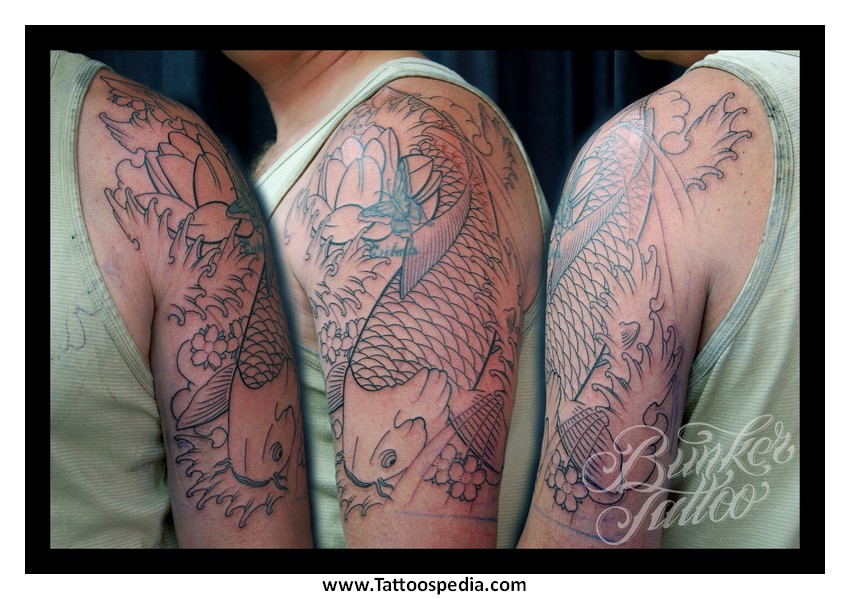 Koi fish tattoo cover up 5 for Koi fish cover up