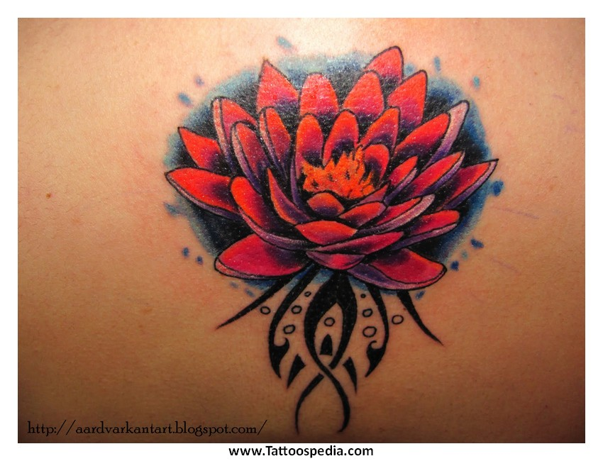 Lotus Flower Tattoo Cover Up 5