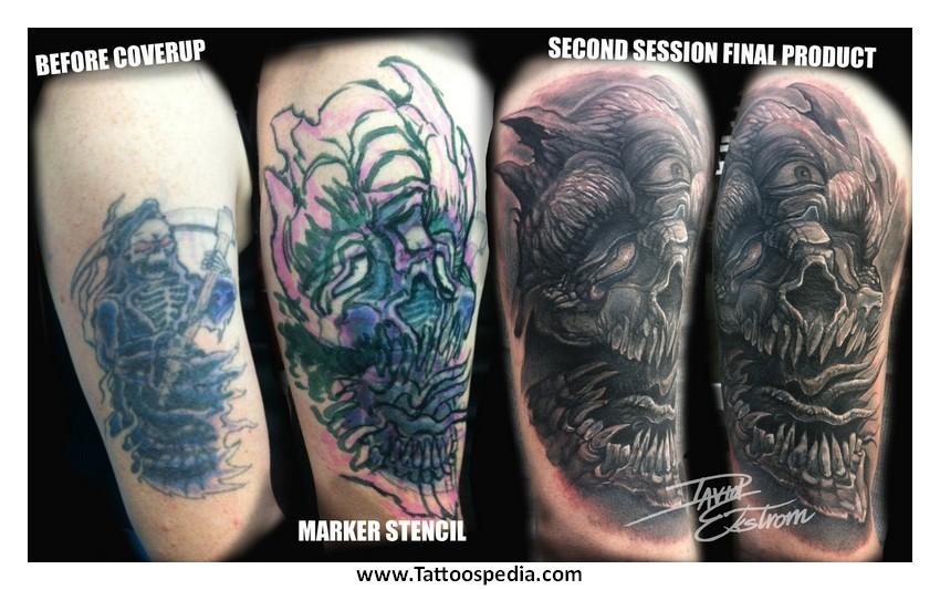 Cover up tattoos for Dark tattoo cover up
