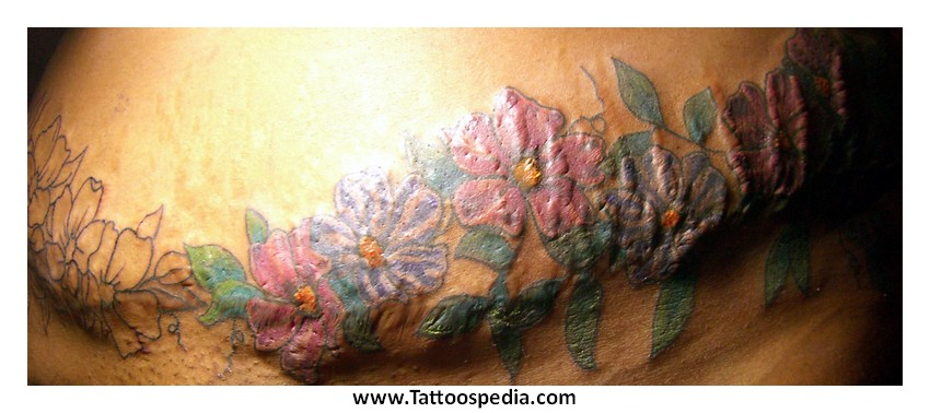 Cover up tattoos for Stretch marks tattoo cover up