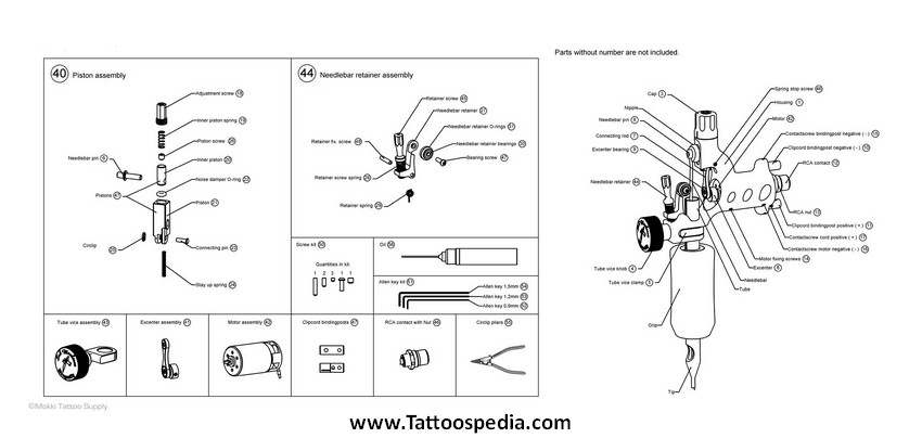 Dragonfly Tattoo Machine Replacement Parts 10  