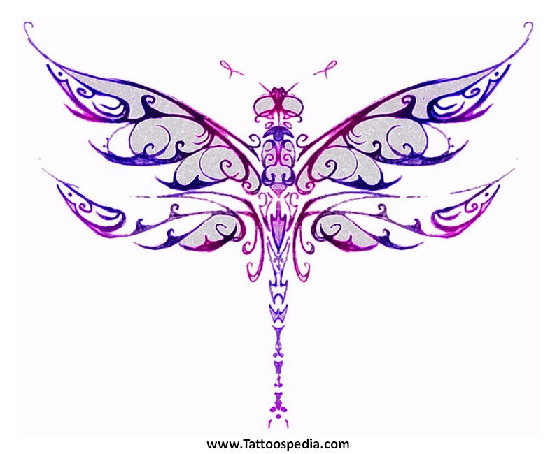 Celtic Dragonfly Drawings Dragonfly Tattoo Tribal 6 «