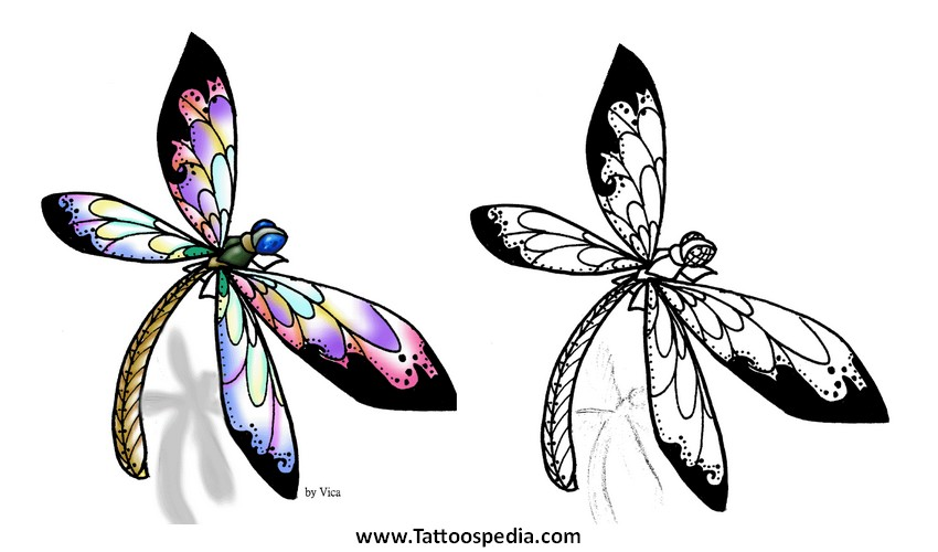 Dragonfly Tattoos Designs For Women 3