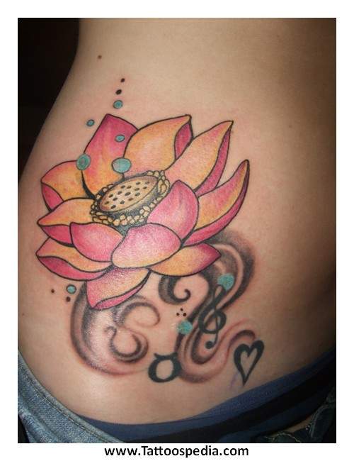 Dragonfly With Lotus Flower Tattoo 10