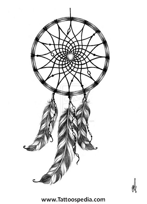 Dreamcatcher tattoo template 2 for Dream catcher tattoo template