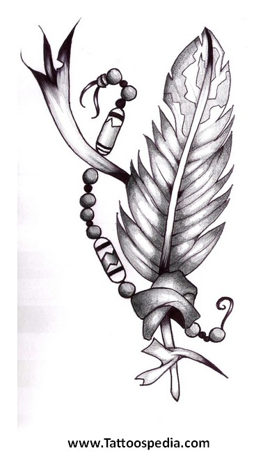 Feather Tattoo Drawings 4