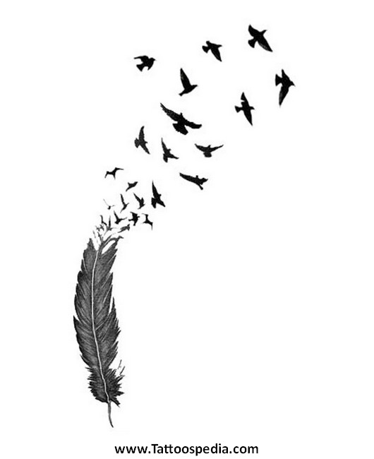 Feather Tattoo Template