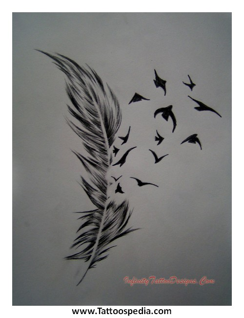 A Feather Tattoo Meaning 4