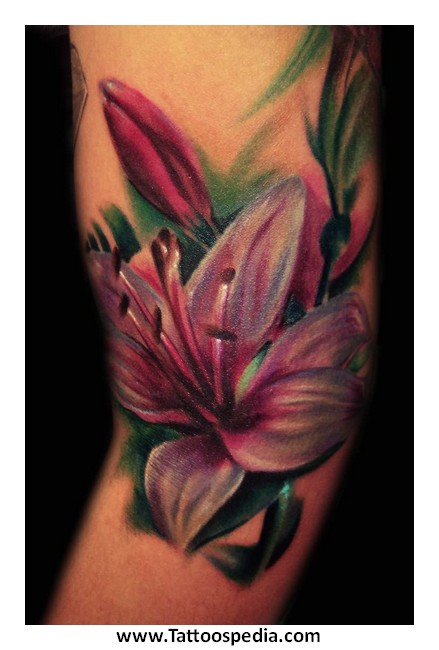 Flower tattoos lily 4 for Dragon lily tattoo