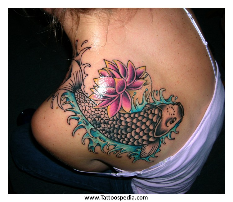 Lotus Flower Lower Back Tattoo Designs 3