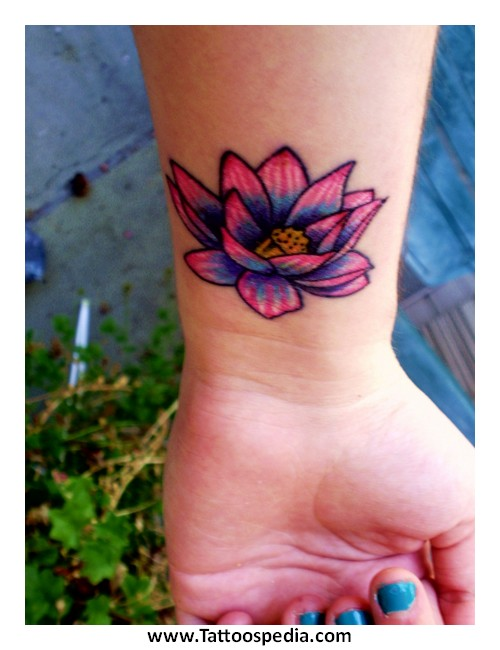 lotus flower tattoo color 4