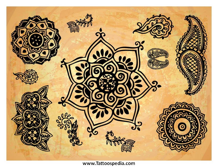 Mehndi Lotus Flower Meaning : Henna color meaning makedes