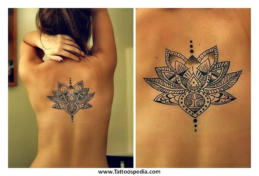 Simple Flower Tattoos on Thigh Lotus Flower Thigh Tattoo 1