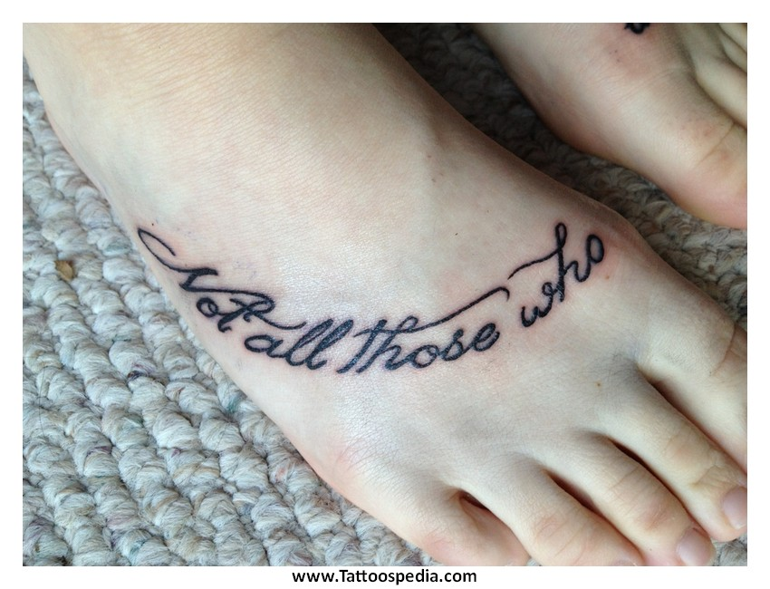Foot Tattoo Quotes
