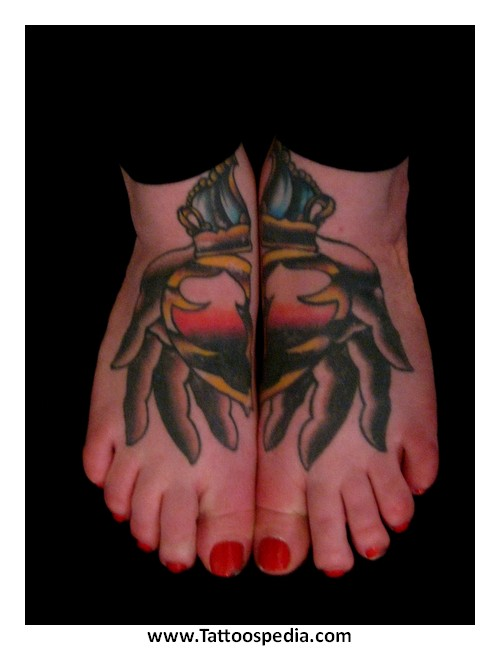 Foot tattoos most painful 2 for How sore is a tattoo on your foot