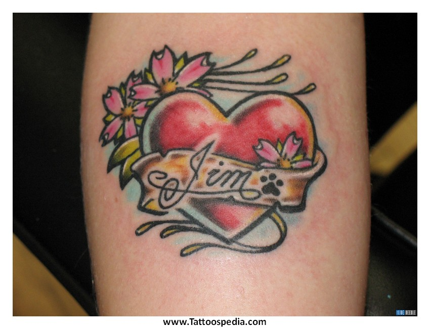 Heart Tattoo Designs With Kids Names Name Heart Tattoos Designs 10