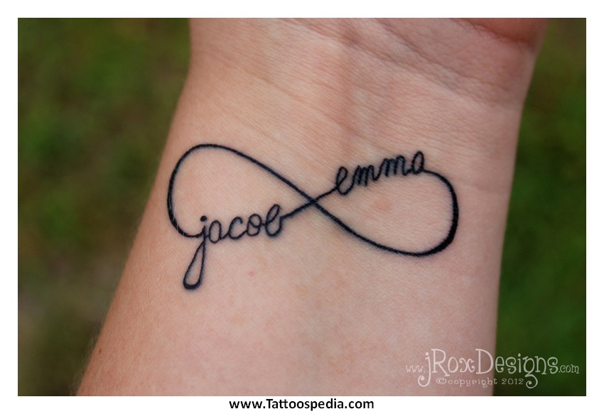 Infinity Symbol Tattoo With Quote 2