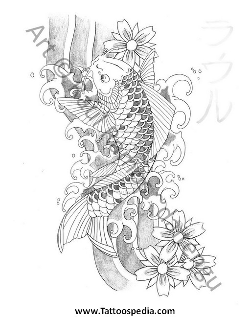 Japanese koi fish tattoo designs gallery 1 for Japanese koi fish names