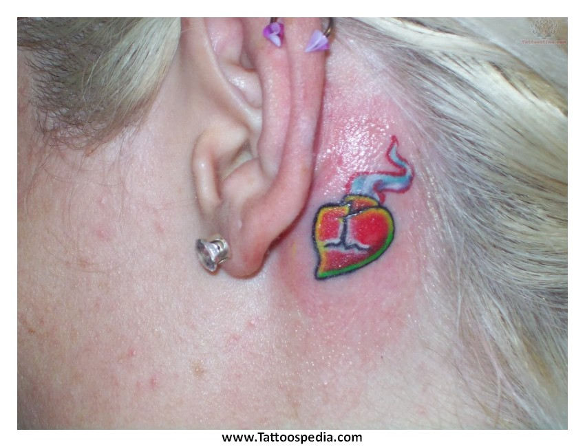 Jesus Fish Tattoo Behind Ear Jesus Fish Tattoo Behind Ear