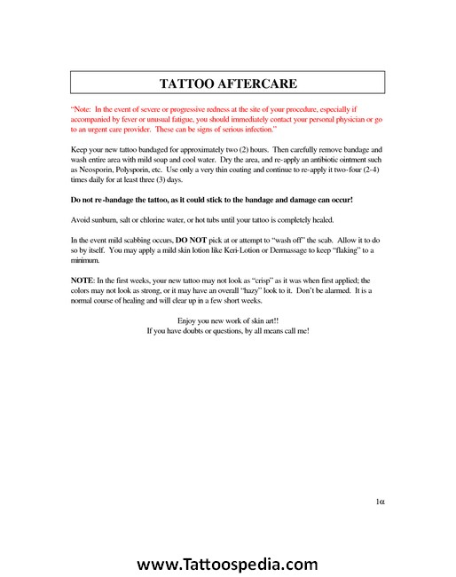 Lip Tattoo Aftercare Instructions 1