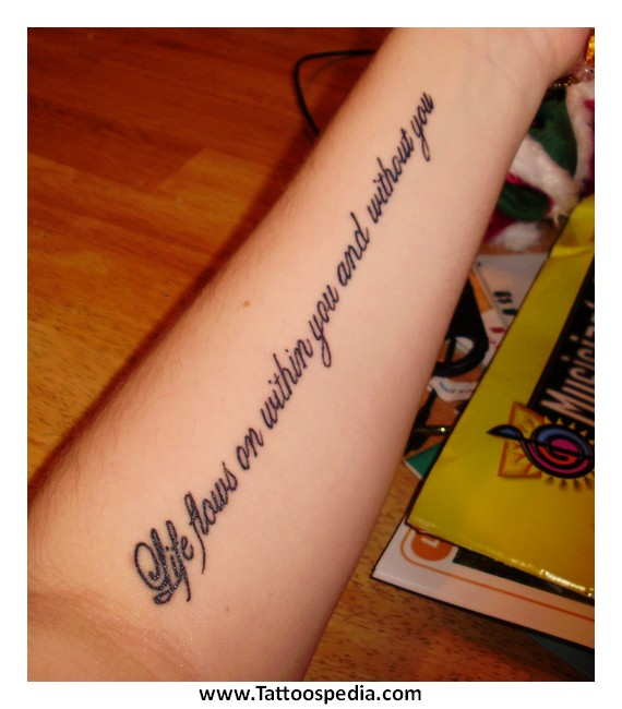 Meaningful tattoos quotes for men 4 for Meaningful quote tattoos