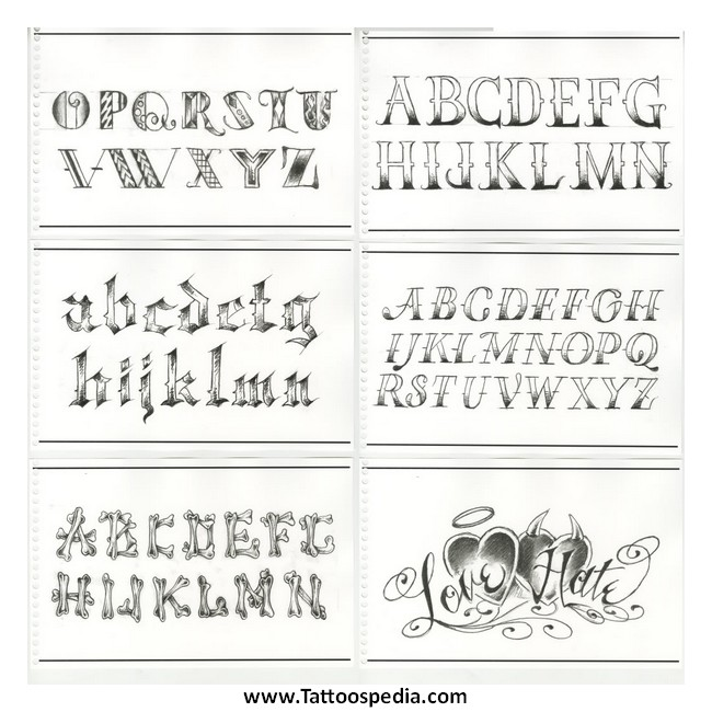 Name Tattoo Lettering Fonts 8