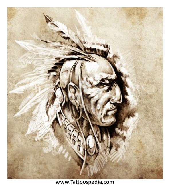 Native american tattoos for Native american warrior tattoos